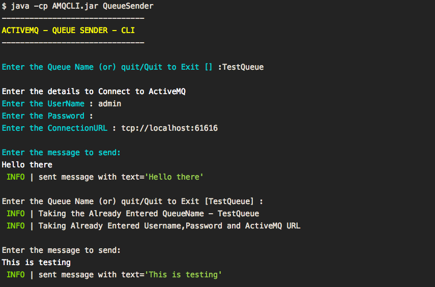 Activemq simple jms client program to test queue and topic