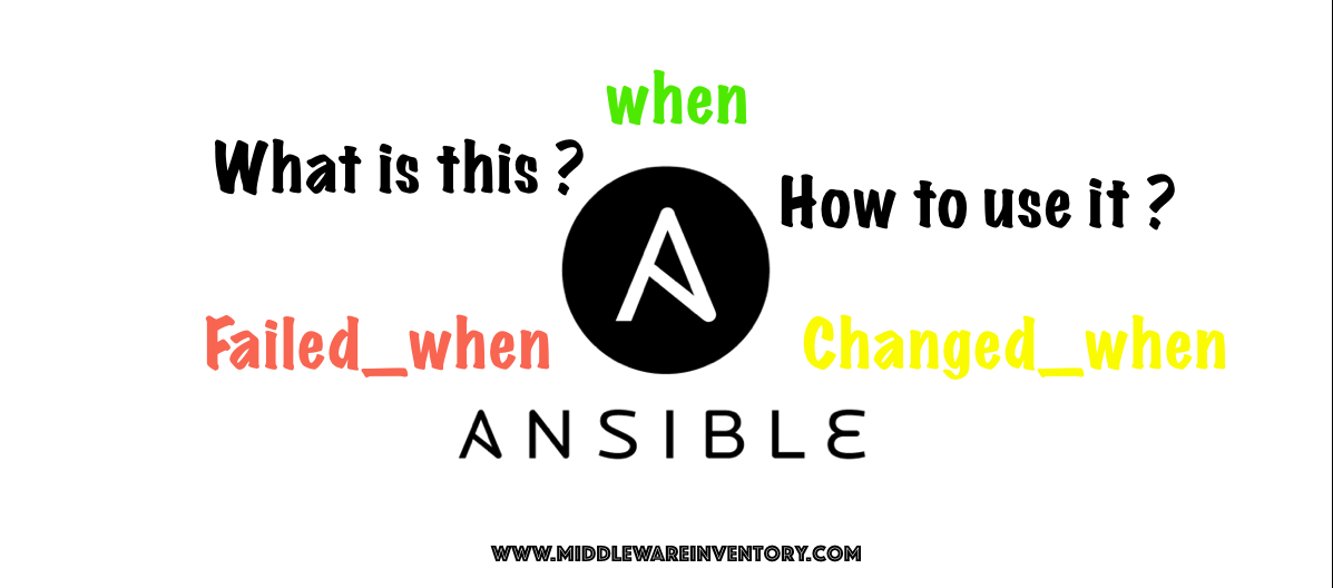Ansible changed_when and failed_when examples