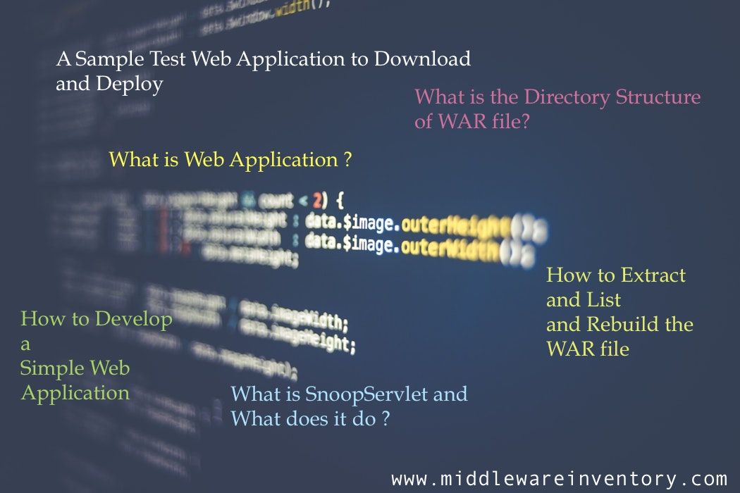 A Sample Java Web Application - War file to Deploy and Test
