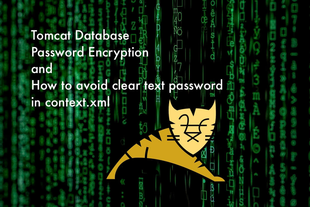 Encrypt tomcat database password - How to avoid Clear Text