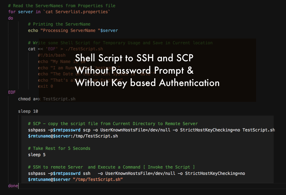 Shell Script to SSH with Password - How to Handle Password