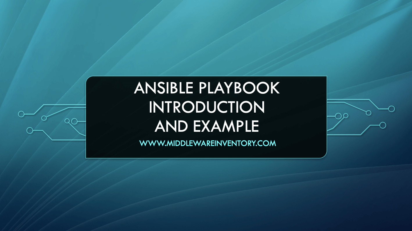 Ansible Playbook Example - Sample Ansible Playbook