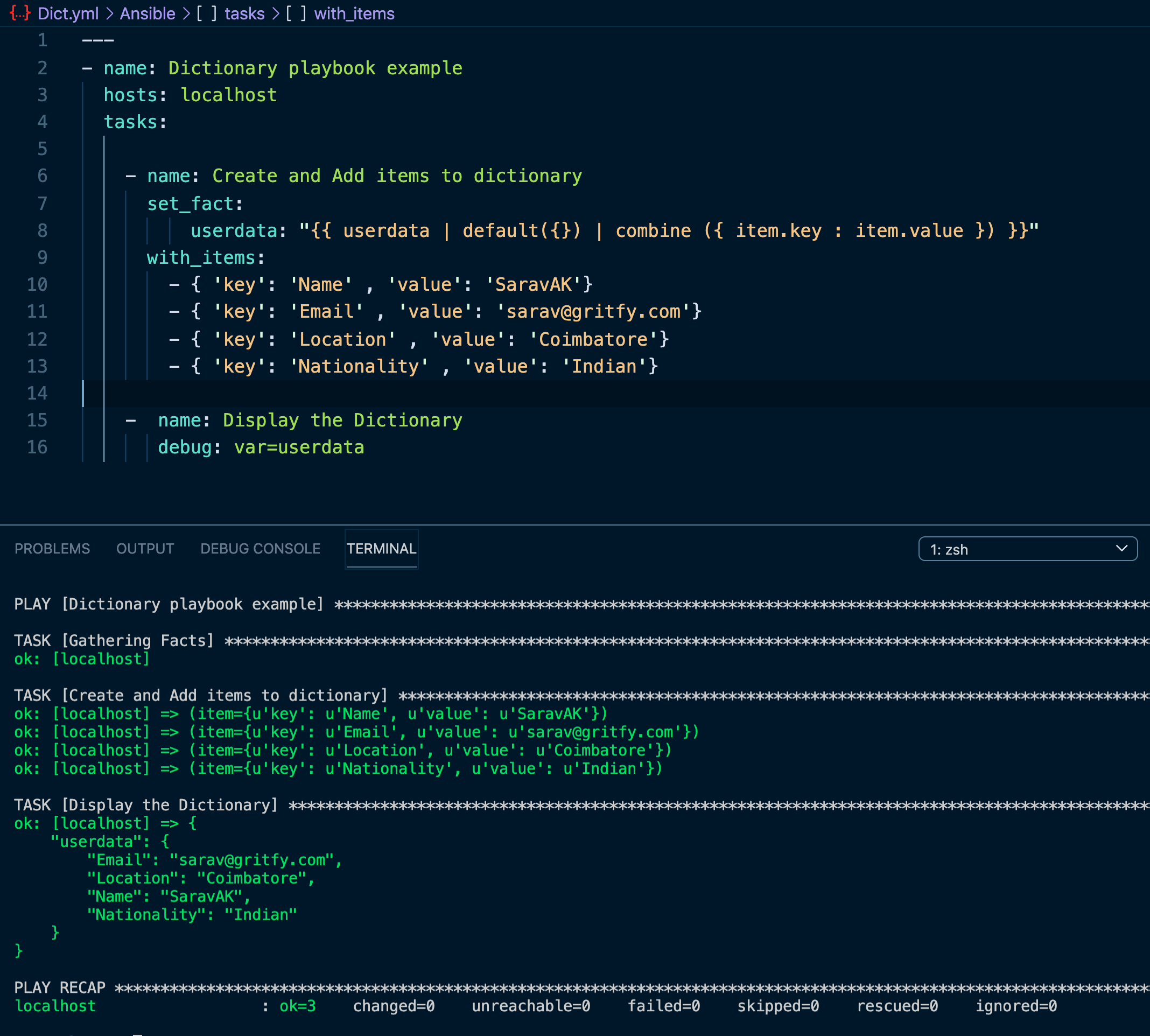 Ansible Dictionary   How to create and add items to dict   Devops ...